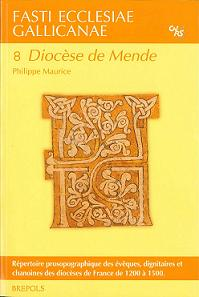 couverture du volume de Mende